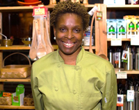Chef HuNia Bradley at the Albany Farmers' Market, 6/26/13