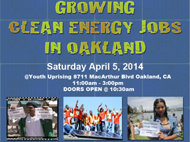 Growing Clean Energy Jobs in Oakland, 4/5/14