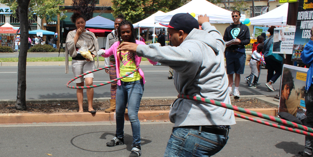 Youth Leaders spread the message.