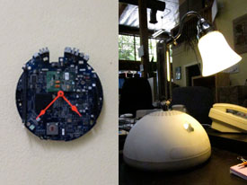 Reuse in Action: An Old iMac Became a Clock and Lamp