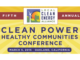 Join the Clean Power, Healthy Communities Conference via Webcast, 3/5/15