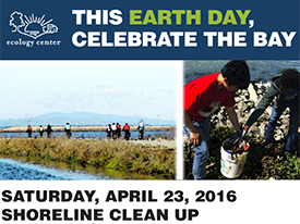 Earth Day Shoreline Clean Up, 4/23/16