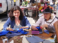 Today at the Farmers' Market: Plastic-Free Crafting and Info Swap!