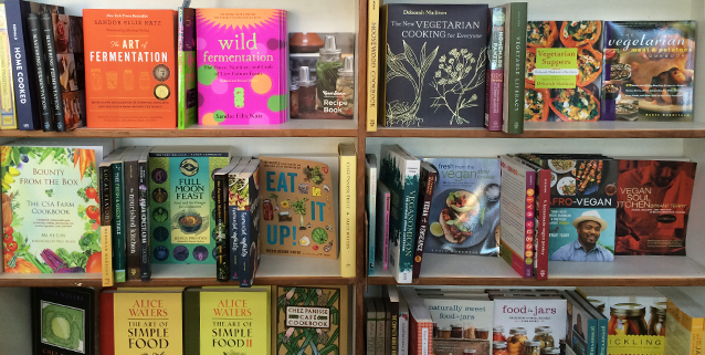 Cookbooks, Gardening Guides, and Recycled Paper Products