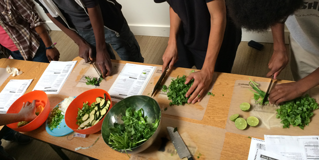 Cooking and nutrition lessons give youth tools for a healthy future