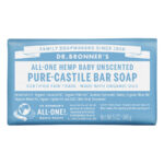 Dr. Bronner's All-One Pure Castille Bar Soap Hemp Baby Unscented
