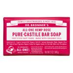 Dr. Bronner's All-One Pure Castille Bar Soap Hemp Rose