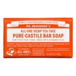 Dr. Bronner's All-One Pure Castille Bar Soap Hemp Tea Tree