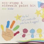 Eco-kids Stamp & Sidewalk Paint Kit