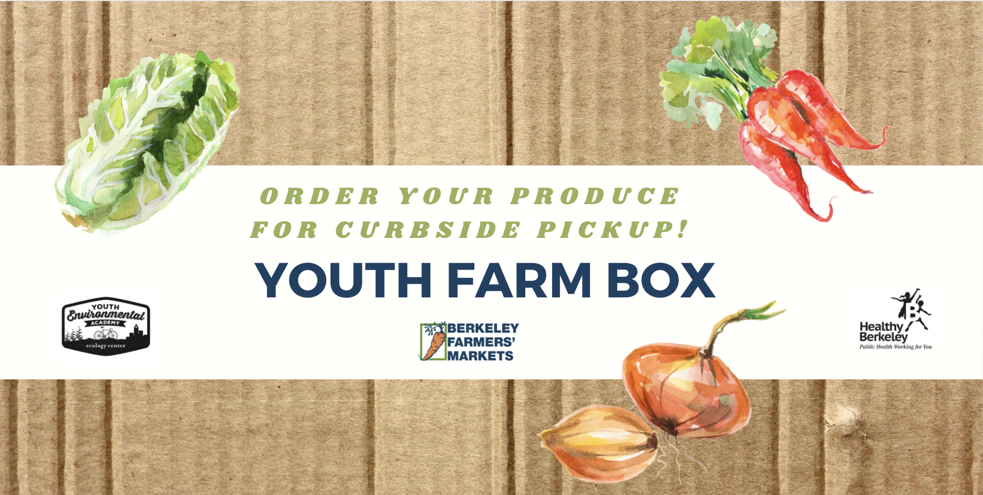 Order a produce box for contactless, curbside pickup!